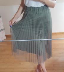 Suknja plisirana nenosena