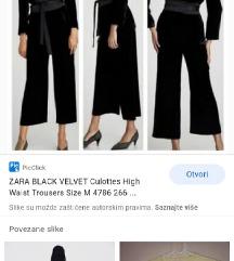 Zara velvet hlače