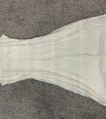 H&M haljina s etiketom- srebrne niti