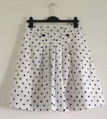 retro suknja na točkice