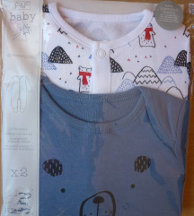 Nova F&F jednodjelna pidžama, 2 kom. 9-12 mj. 80