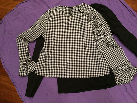 Zara karirana majica bluza s