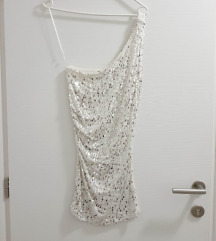 Bijela šljokasta haljina