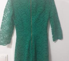Zelena čipkana haljina