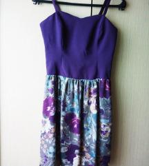Cvjetna ljubičasta haljina