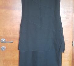 Crna haljina 100% lan M/L