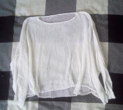 Prozirna bijela majica