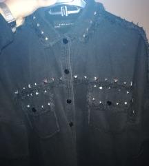 Zara crna jeans jakna