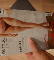Samostojeće čarape u boji kože s čipkom (novo)
