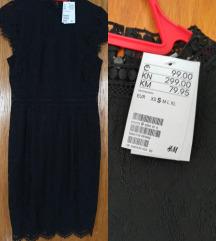 Nova H&M crna elegantna haljina