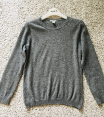 H&m sivi pulover od kašmira vel S-M