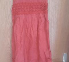 Crvena lanena haljina