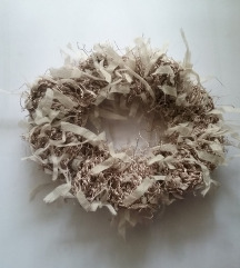 Heklani scrunchie gumica za kosu