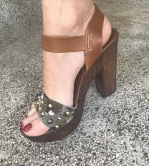Sandale, prava koža, više 37
