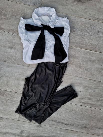 LOT - ZARA košulja i kožne tajice