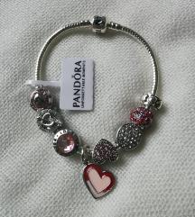 Pandora narukvica, srce, nova!