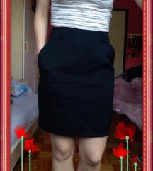 Crni šos/suknja, visoki struk, vel. XXS/XS (32/34)