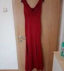 Duga bordo crvena haljina l Veličina univerzalna