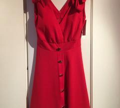 Nova crvena haljina S M 38