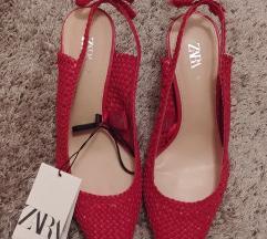 Zara crvene stikle sandale cipele
