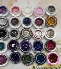 Jana nails glitter i satin gelovi u boji