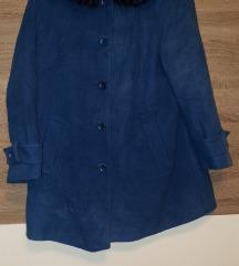 Plavi kaputić od prave vune(virgin wool) i kašmir