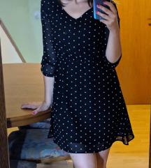 Mala crna točkasta haljinca