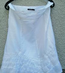 bijela suknja vel 42
