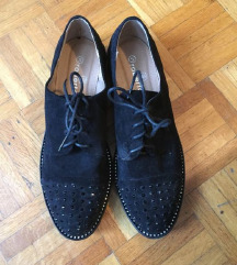 Brušena koža crne cipele 41