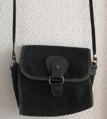 Vintage torbica od brušene kože