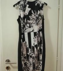 H&M crno-bijela haljina