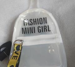 Prozirni mini ruksak