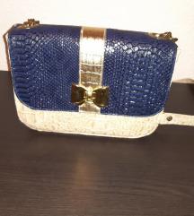 Svečana plavo bež torbica