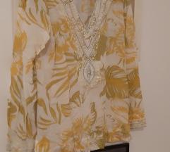 Softsurroundings žuta bijela tunika za ljeto