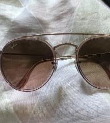 Ray Ban double bridge rose gold sunglasses
