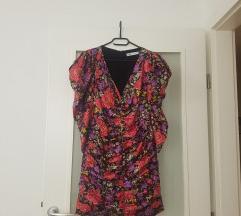 Zara mini cvjetna haljina s puf rukavima NOVA