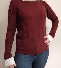 Lagani bordo džemper