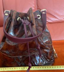 Vintage kožna smeđe bordo torba