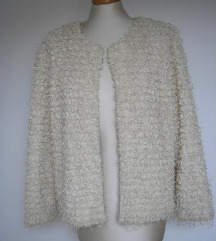 H&M čupava fluffy salo jaknica kardigan