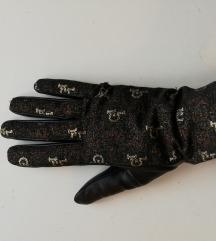 NOVE Rocco Barocco monogram kožne rukavice