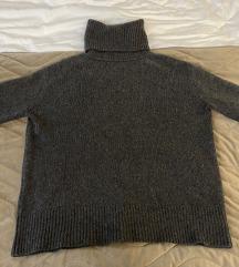Sivi Zara džemper - 100% kašmir