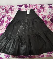 Nova stradivarius kozna suknja