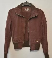 Smeđa proljetna jakna