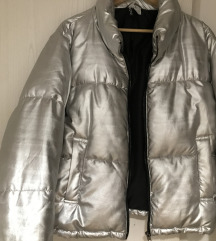 H&M srebrna zimska jakna