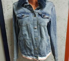 Jeans jakna sa krznom