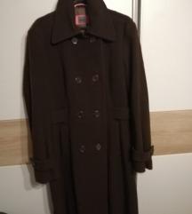 novi dugački smeđi kaput
