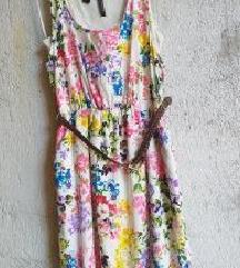 Mango cvijetna haljina + remen M