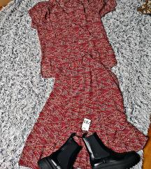 suknja i košulja vintage retro komplet