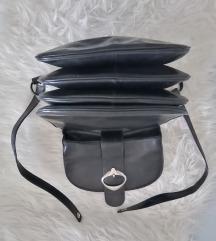 Vintage crna torba-prava koža
