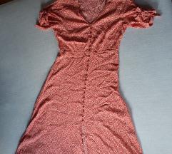 H&M cvijetna midi haljina od viskoze